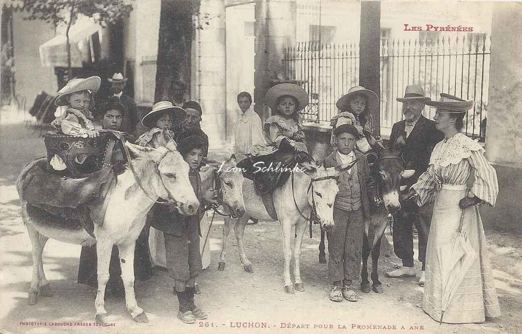 0 - 261 - Luchon - Départ pour la promenade à âne