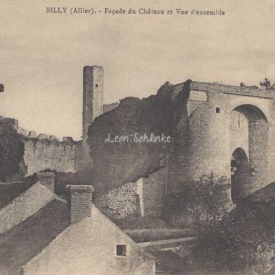 03-Billy - Façade du Château et Vue d'ensemble (Boutonnat à Billy)