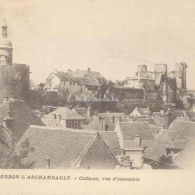 03-Bourbon-l'Archambault - Château, vue d'ensemble (Ss edit)