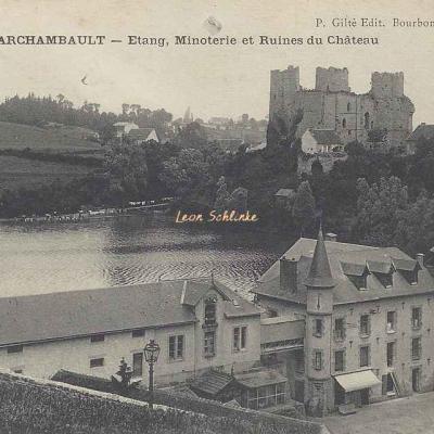03-Bourbon-l'Archambault - Ruines du Château (P.Gilté edit.)