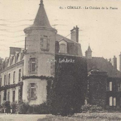 03-Cérilly - 63 - Le Château de la Pierre (G.Bodard à Cérilly)