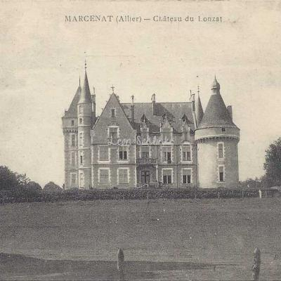03-Marcenat - Château de Lonzat (Boutonnay édit. à Billy)
