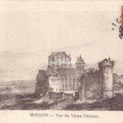 03-Moulins - Vue du Vieux Château (Ss edit)