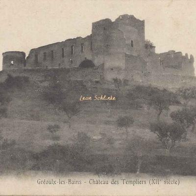04-Gréoux-les-Bains - Château des Templiers (Porte phot.)