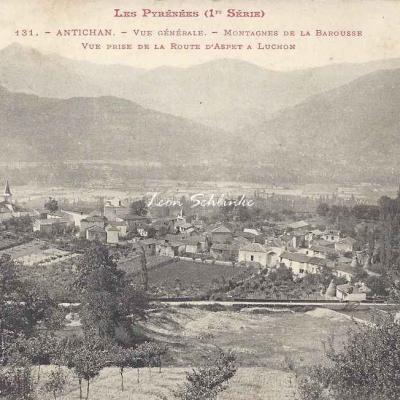 1 - 131 - Antichan - Vue générale prise de la route d'Aspet à Luchon