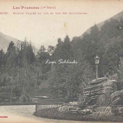 1 - 623 - Luchon - Statue Vallée du Lys et Lac des Quinconces