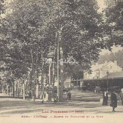 1 - 628 - Luchon - Route de Toulouse et la Gare