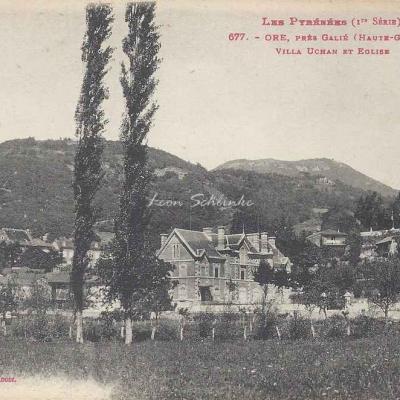 1 - 677 - Ore près Galié, Villa Uchan et église