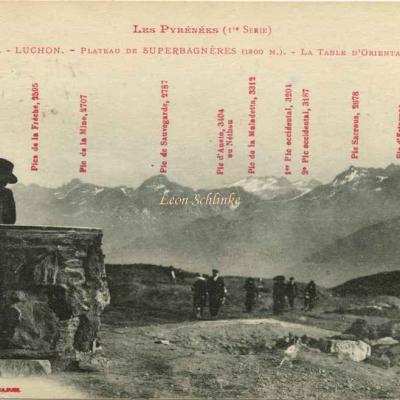 1 - 751 - Luchon Superbagnères - La Table d'Orientation