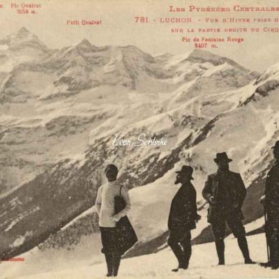 1 - 781 - Luchon - Vue d'hiver du Cirque du Lys