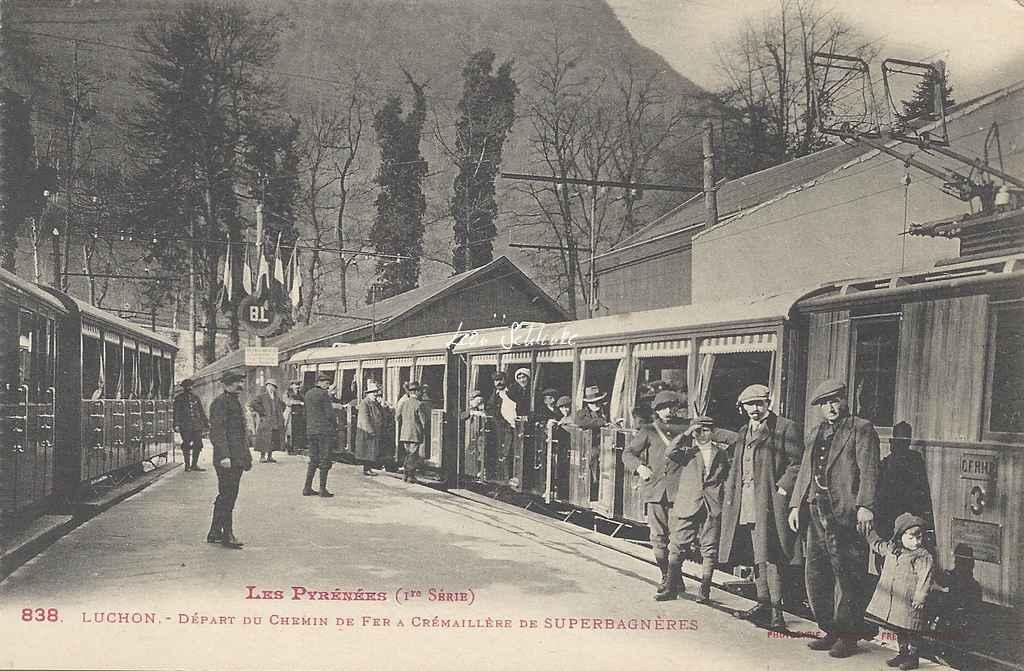 1 - 838 - Luchon - Départ pour Superbagnères