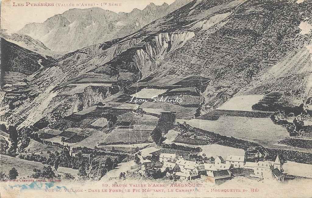 1 - 89 - Hte Vallée d'Aure - Aragnouet et vue sur les montagnes