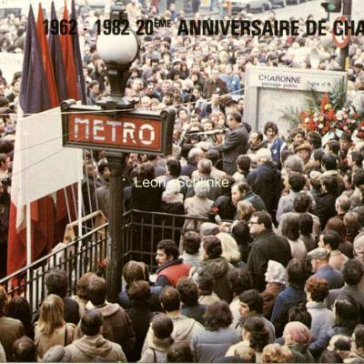 1962-1982 - 20° Anniversaire de Charonne