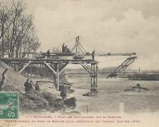 1 - Le pont de service au début des travaux (Janvier 1904)