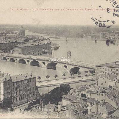 1 - Vue générale sur la Garonne - Faubourg St Cyprien