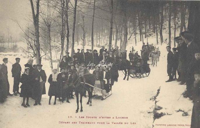 10 - Départ des traineaux pour la Vallée du Lys