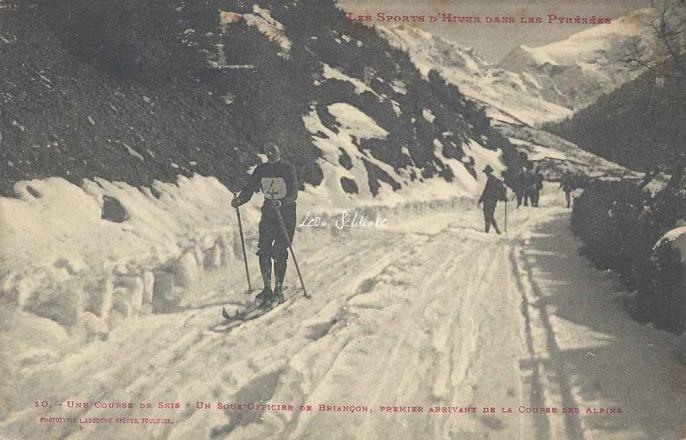 10 - Une course de skis - Le Sous-Officier de Briançon