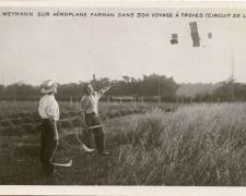 100 - Weymann sur Aéroplane Farman dans son voyage à Troyes (Circuit de l'Est)