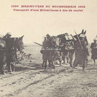 1004 - Transport d'une Mitrailleuse à dos de mulet