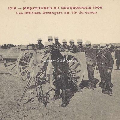 1014 - Les Officiers Etrangers au Tir du canon