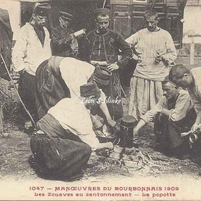 1047 - Les Zouaves au Cantonnement - La Popotte