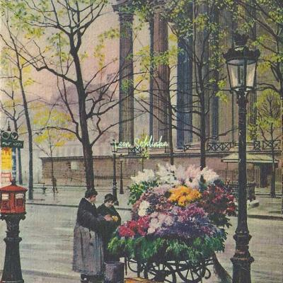 11 - Marchande de Fleurs Place de la Madeleine