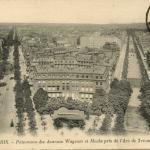 LL 1100 - PARIS - Panorama des Avenues Wagram et Hoche pris de l'Arc de Triomphe