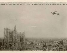 113 - Legagneux sur Biplan Farman au-dessus d'Amiens dans le Circuit de l'Est