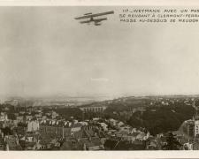 117 - Weymann avec un passager se rendant à Clermont-Ferrand passe au-dessus de Meudon