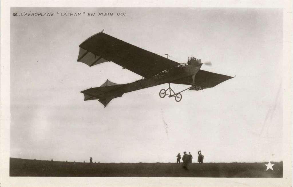 12 - L'Aéroplane LATHAM en plein vol