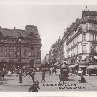129 - La Gare St-Lazare et la Place du Hâvre