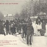 13 - Départ des Soldats Alpins sous la neige