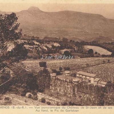 13-Gémenos - Vue panoramique du Château de St-Jean (Tardy 11)