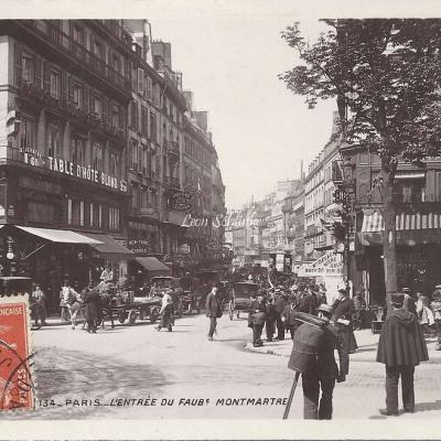 134 - L'Entrée du Faubourg Montmartre