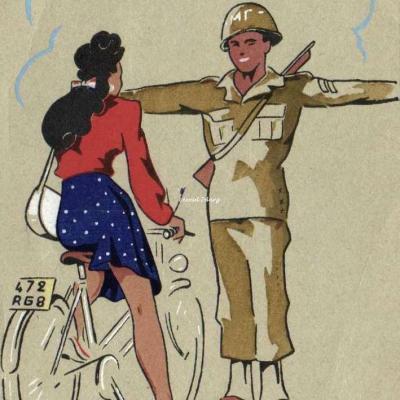 B - Pin up à vélo