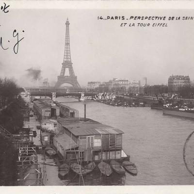 14 - Perspective de la Seine et la Tour Eiffel