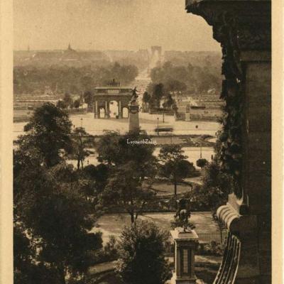 14 - Perspective sur le Jardin des Tuileries et l'Arc de Triomphe