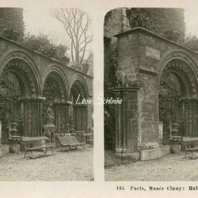 145 - Paris, Musée Cluny - Ruines dans le Jardin