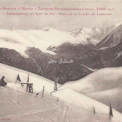 16 - Entrainement au saut en ski - Fond de la Vallée du Larboust