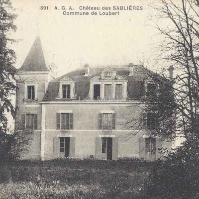 16-Roumazières-Loubert - Château des Sablières (AGA 891)