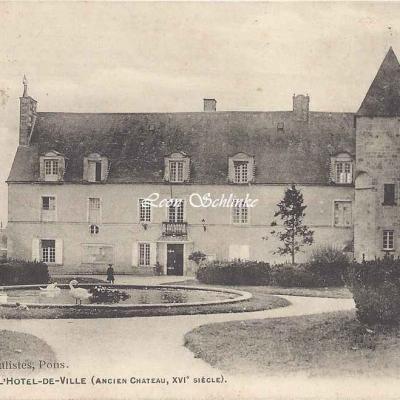 17-Pons - L'Hôtel de Ville, ancien Château (Dabin bur.)