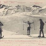 17 - Skieurs au sommet du Plateau en vue du Cirque du Lys