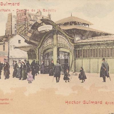 17 - Style Guimard - Station de la Bastille