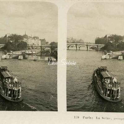 179 - Paris - La Seine, perspective sur la Cité