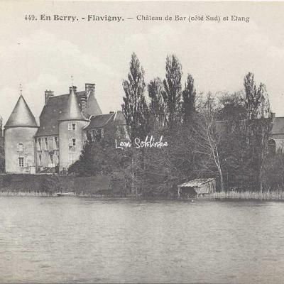 18-Flavigny - 449 En Berry Auxenfans - Château de Bar et étang