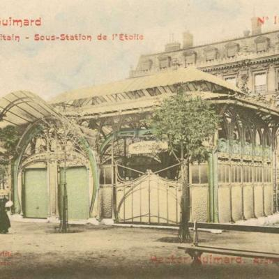 18 - Style Guimard - Le Métropolitain - Sous-Station de l'Etoile