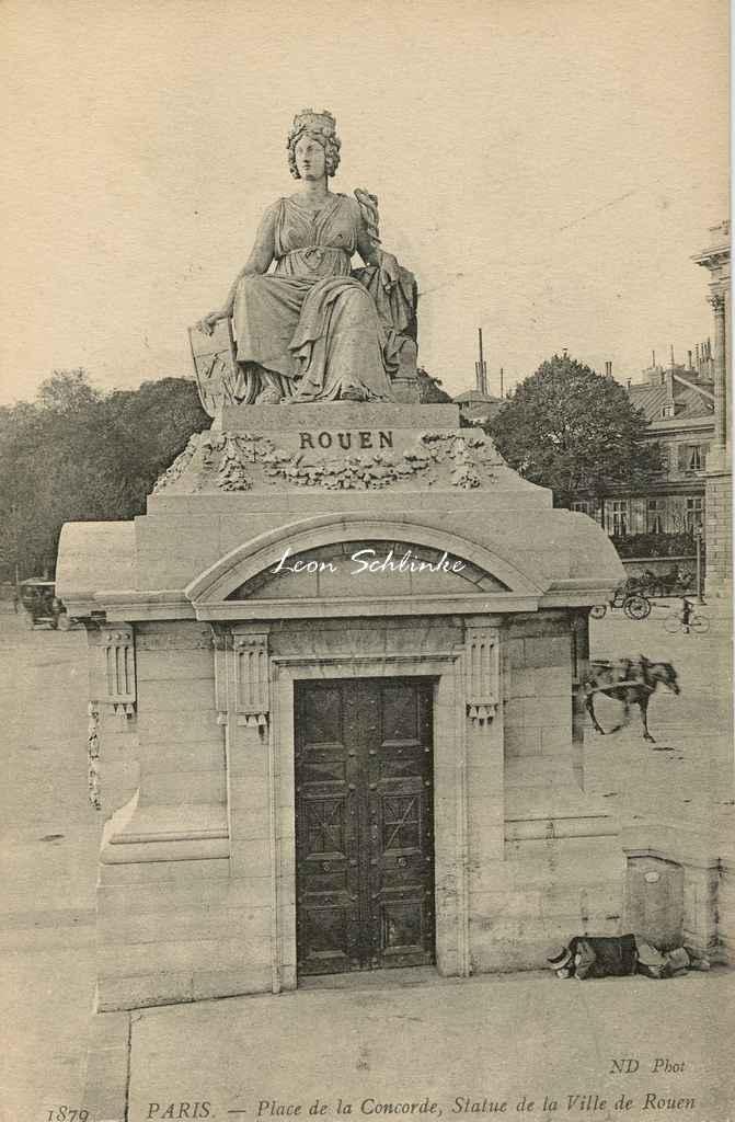 ND 1879 - PARIS - Place de la Concorde, Statue de la Ville de Rouen