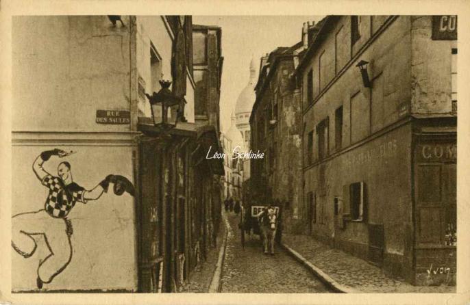 189 - La Rue Saint-Rustique, le Sacré-Coeur
