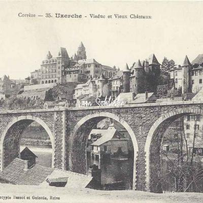 19-Uzerche - Viaduc et Vieux Château (Bassot & Guionie 35)