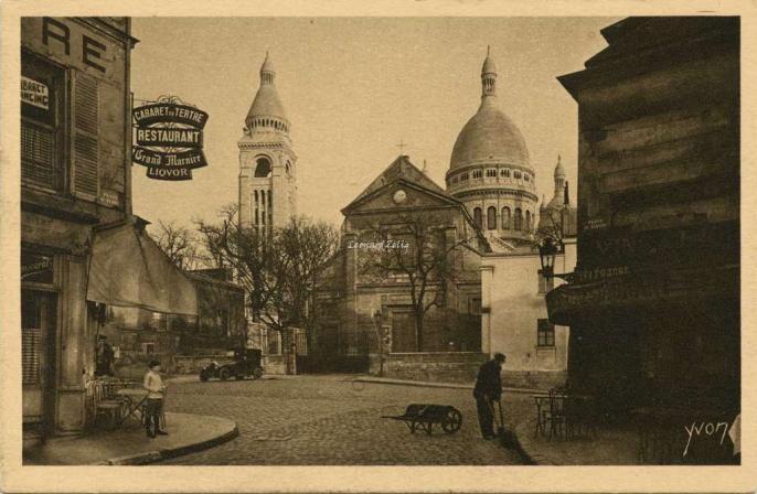 190 - Le Sacré-Coeur vu de la Place du Tertre